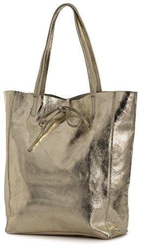 LiaTalia Genuine Italian Soft Leather Leightweight Large Hobo Shopper Shoulder bag - Astrid