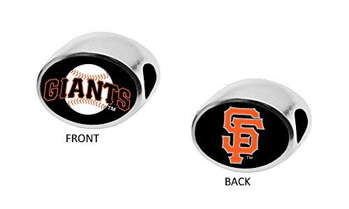 (San Francisco Giants 2-Sided Bead Fits Most Bracelet Lines Including Pandora, Chamilia, Troll, Biagi, Zable, Kera, Personality, Reflections, Silverado and More Charm Bead Fits Pandora Style Bracelets)