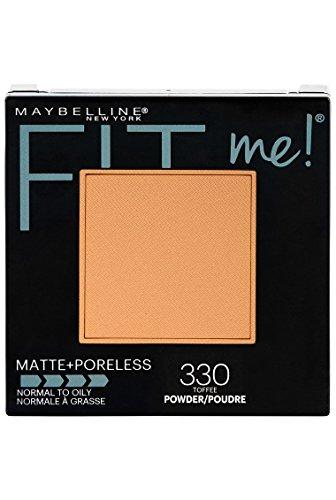 Maybelline New York Fit Me Matte + Poreless Powder Makeup, Toffee, 0.29 oz.