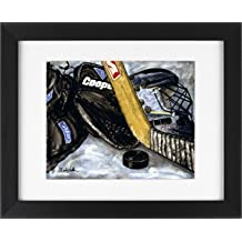 Hockey Goalie - Sports Framed Art Print