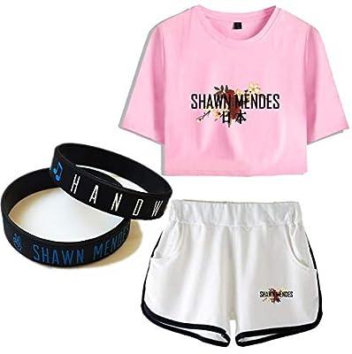 Shawn Mendes T-Shirt Suit Wristband Couple Gift Concert Tee Music Short Sleeve Singer Japan Bracelet Outdoor