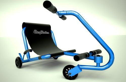 EzyRoller Junior - Blue - Ride On for Children Ages 2 to 4 Years Old - New Twist on Classic Scooter - Kids Move by Pushing Handles Back and Forth - Fun Play and Exercise for Boys and Girls