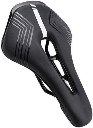 自転車 サドル 快適な柔軟なバイクシートマウンテン自転車サドルクッションサイクリングパッド中央救済ゾーンロードマウンテンバイクや折りたたみ自転車のためのデザインフィット ロードバイクマウンテンバイクに最適 (Color : Black, Size : 25.5X16CM)