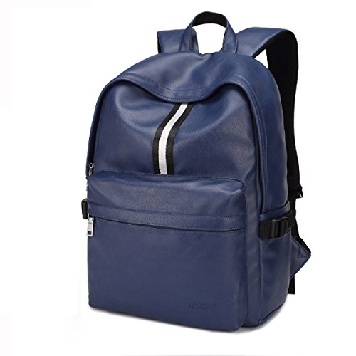 Multi Pu Bag Backpack Business purpose Travel Blue Laidaye Shoulder Leisure Leather 5Wcaqq0IA