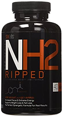 Star Labs NH2 Ripped, Cutting Edge Weight Loss Formula with Clinically Tested Razberi-K, 120 Count