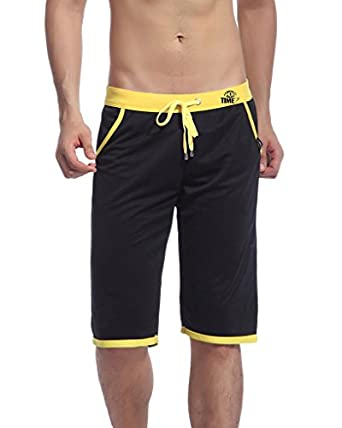 Showtime Men's Casual Pocketed Sports Knee High Shorts at Amazon ...