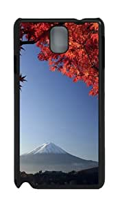 Mount Fuji Japan In Autumn PC Case and Cover for Samsung Galaxy Note 3 Note III N9000 Black