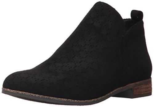 Dr. Scholl's Shoes Women's Rate Ankle Boot, Black Microfiber Perforated, 8.5 M US