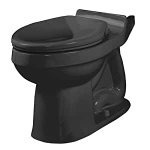American Standard 3121.016.178 Champion Elongated Seatless Toilet Bowl, Black (Bowl Only)