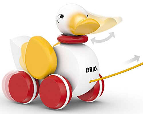 41bjM04IcUL - BRIO World - 30323 Pull Along Duck Baby Toy | The Perfect Playmate for Your Toddler