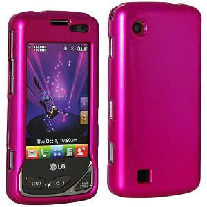 Amzer Polished Snap-On Crystal Hard Case for LG Chocolate Touch VX8575 - Rose Pink