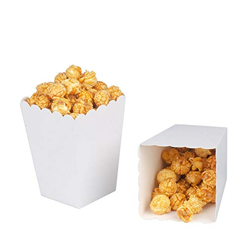 White Popcorn Boxes Cardboard Container For Party Supplies,Pack of 36 for $<!--$11.99-->