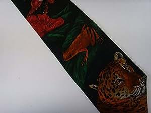 World Wildlife Fund Jaguar Mens Tie Necktie Mens Clothing ; 100% Silk
