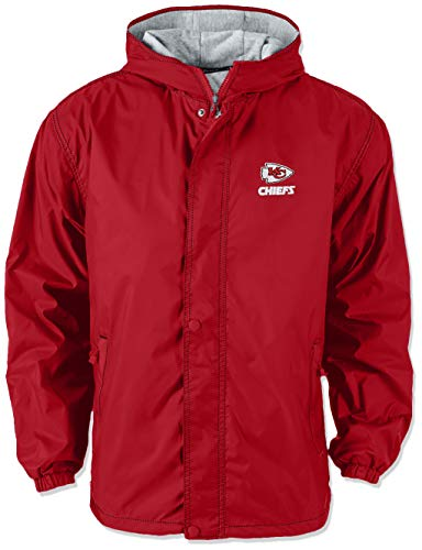 NFL Kansas City Chiefs Legacy Nylon Hooded Jacket, 2x large, Red