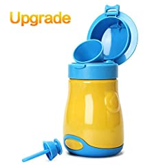 SEALING PERFECT:No leaking after using. CUTE LOOK: A hat design to catch the baby's attention for help pee. FREE extra high quality HAND LINE help u carry it more convenient. EASY TO CARRY: You could contain it into ur bag, bike basket, car a...