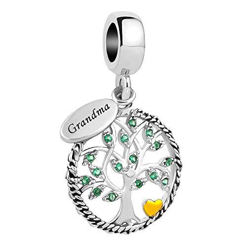 Grandma Charm Pendant - LovelyJewelry New Family Tree of Life Dangle Charm Bead for Bracelet Pendant (Grandma)