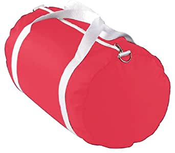 Augusta Sportswear Nylon Zippered Sport Bag, RED, One Size