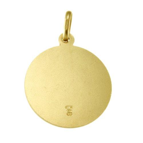 Pendentif Médaille Saint Christophe en or 9carats-20mm-3,7g