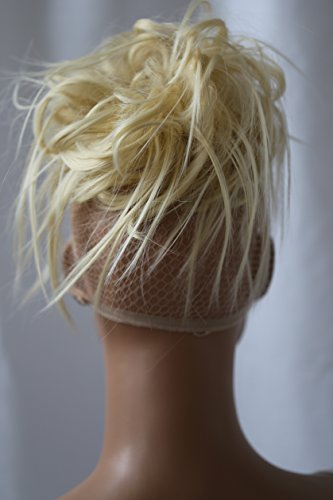 PRETTYSHOP Hairpiece Hair Rubber Scrunchie Scrunchy Updos VOLUMINOUS Wavy Messy Bun platinumblond 613A G3F