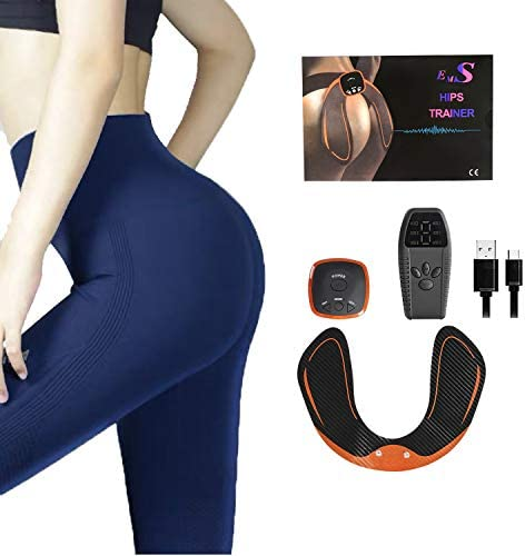 LANCS Butt Hips Trainer Muscle Buttock Toner Fitness Workout Training Bodybuilding Slimming Electronic Exercise Wireless Gear Shaping Machine for Women Men