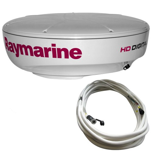 Raymarine Radomes (Raymarine RAY-T70169 RD424HD Hi-Def Color 4KW 24-Inch Digital Radome with 10 Meter Raynet Cable)