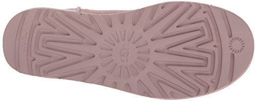 Ugg Women's Classic Mini Ii Metallic Women's Pink Booties In Size 41 Pink