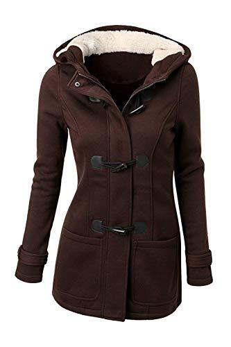 Femme Trench Automne Hiver Longues Manteau Unicolore