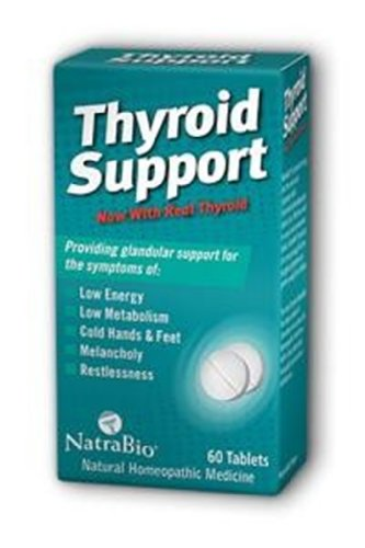 Thyroid Support 60 Tablets (NatraBio Thyroid Support 60 Tablets)