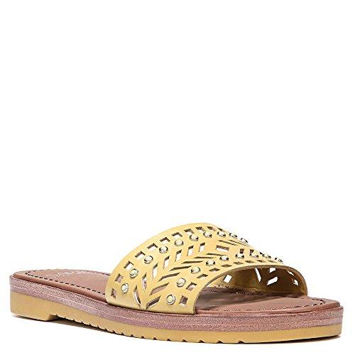 Franco Sarto Artist Collection Women's Maclean4 Slide Sandals (5, Saffron (Franco Sarto Artist Collection)