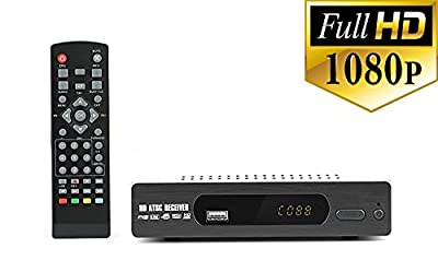 Digital DTV Converter Box for recording and viewing Full HD digital channels FREE (Instant or Scheduled Recording, 1080P HDTV, HDMI Output, 7 Day Program Guide and LCD Screen) Includes RCA cable