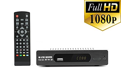 Digital DTV Converter Box for recording and viewing Full HD digital channels FREE (Instant or Scheduled Recording, 1080P HDTV, HDMI Output, 7 Day Program Guide and LCD Screen) Includes RCA cable by eXuby