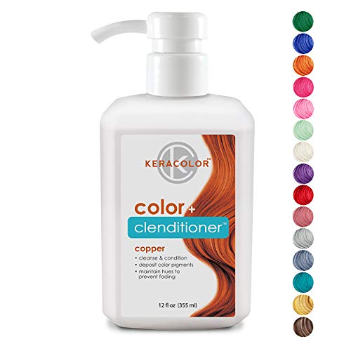 Keracolor Clenditioner Color Depositing Conditioner Colorwash, Copper, 12 fl. oz.