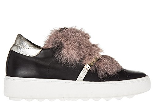 Nuove Slip On Model In Femme Bombay Night Cuir Original Noir Sneakers Philippe RF0TF