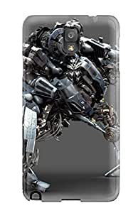 For Galaxy Note 3 Protector Case Blackout D Silver Robot Studio Photo People Movie Phone Cover