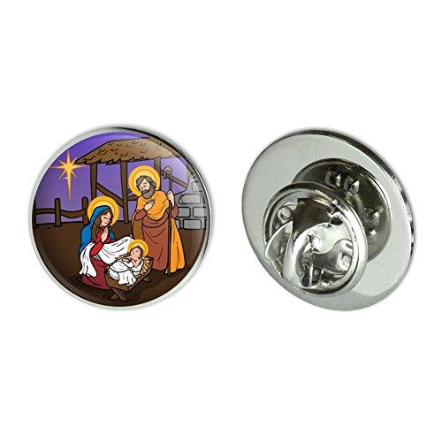 Nativity Pin - GRAPHICS & MORE Nativity Scene Baby Jesus Mary Joseph Christmas Christian Bible 0.75