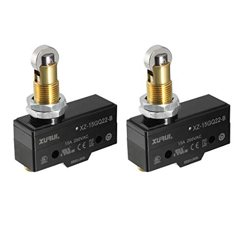 uxcell XURUI Authorized 2PCS XZ-15GQ22-B SPDT NO+NC Panel Mount Roller Plunger Type Micro Limit Switches With Screw Terminals