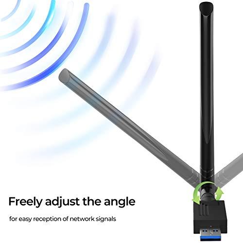 External Dual High Speed Antenna Network Card Portable Network Card New 11AC Wireless Technology Greater Modulation Efficiency Bewinner 867 Mbps Dual Band Wireless Network Card