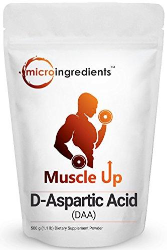 Premium Pure D-Aspartic Acid (DAA) Powder, 500 grams (1.1...