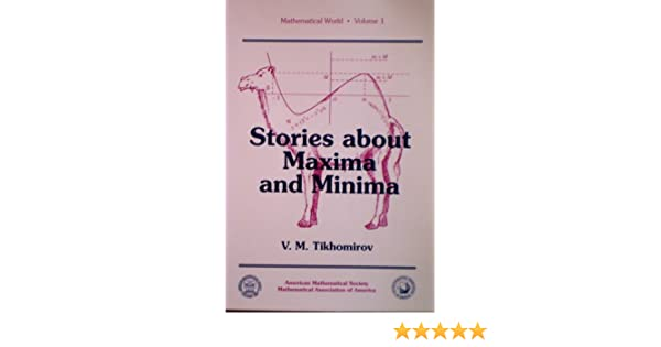 Stories About Maxima and Minima (Mathematical World/Volume 1): V  M