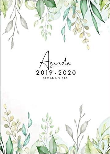 Agenda 2019 2020 Semana Vista: Agenda 2019/2020 18 meses ...