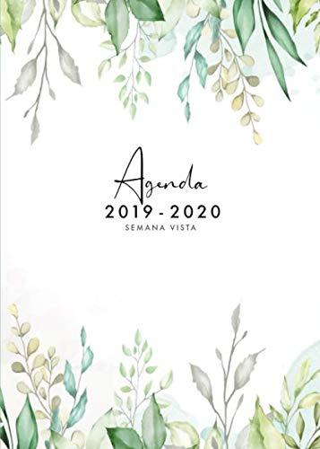 Agenda 2019 2020 Semana Vista: Agenda 2019/2020 18 meses: Organiza tu día - Agenda semanal - Julio 2019 a Diciembre 2020 - español - diseño floral por Papeterie Collectif