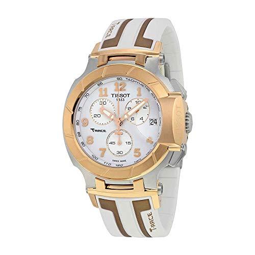 - Tissot T-Race White Dial SS Silicone Chrono Quartz Men's Watch T0484172701200