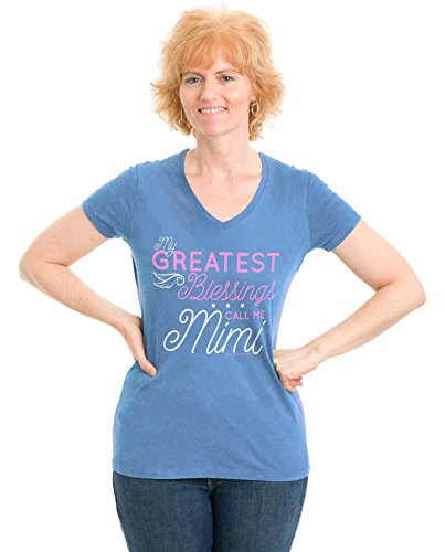 My Greatest Blessings Call me Mimi | Cute Grandmother Ladies' V-neck T-shirt
