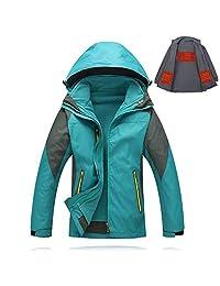 Xlight.ca Women's 5V USB Heated Jacket with Detachable Heating Inner Jacket