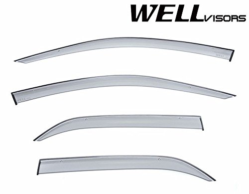 WellVisors Side Window Wind Deflector Visors - Mitsubishi Lancer and Evolution VIII IX 2002 2003 2004 2005 2006 Premium Series