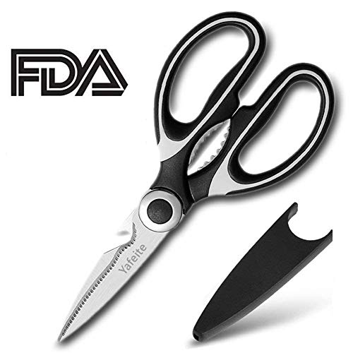 Kitchen Shears,Multifunctional Heavy Duty Kitchen Scissors - Ultra Sharp Stainless Steel Shears for Chicken, Poultry, Fish, Vegetables and BBQ by Yafeite