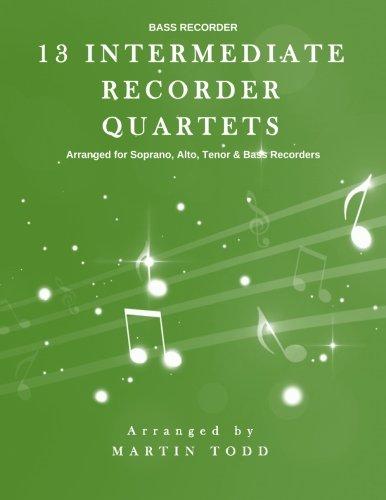 13 Intermediate Recorder Quartets - Bass Recorder ()