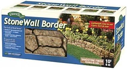 Amazon Com Dalen Gardeneer Stonewall Border Tan 10 Ft Outdoor Decorative Stones Garden Outdoor