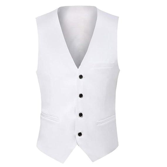Uomo da Vestito Business Gilet Fit Gilet Completo Slim Casual 4 fPTxTnqA