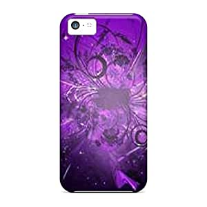 For DustinHVance Iphone Protective Case, High Quality For Iphone 5c Purple Abstract 1 Skin Case Cover
